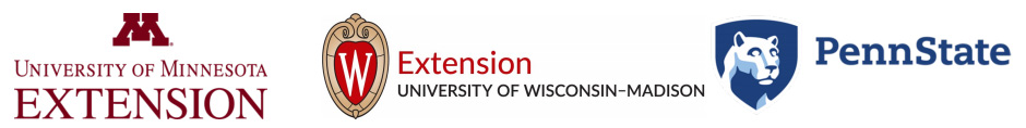 University of Minnesota Extension, University of Wisconsin-Madison Extension, Penn State
