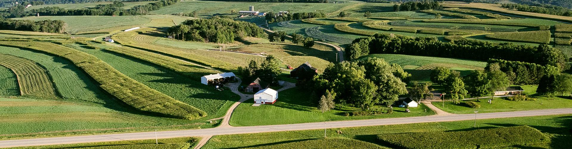 aerial view of a Wisconsin farm