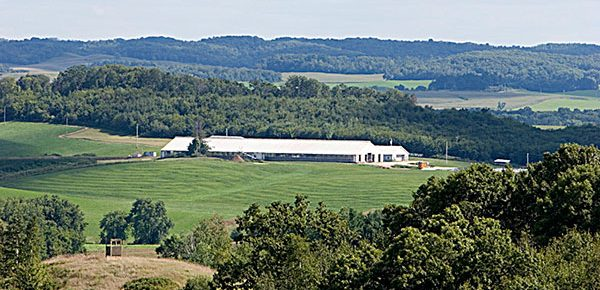 far away view of a farm