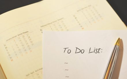 to do list and pen and calendar