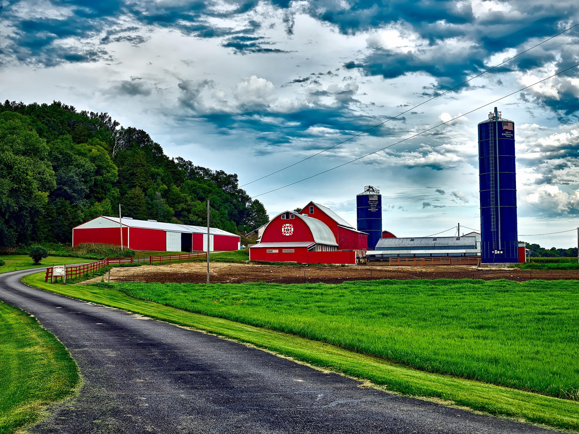 Red farm in Wisconsin